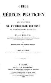 Guide du médecin praticien; or, Résumé général de pathologie interne et de thérapeutique appliquées: Volume2