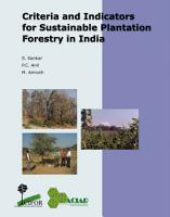 Criteria and Indicators for Sustainable Plantation Forestry in India PDF