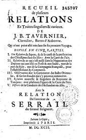 Les Six voyages de Jean-Baptiste Tavernier ...qu'il a fait en Turquie, en Perse et aux Indes