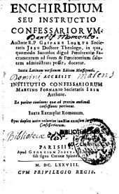 Enchiridium seu Instructio confessariorum