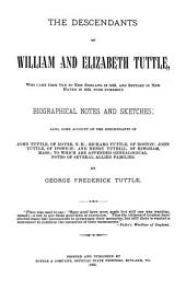 The Descendants of William and Elizabeth Tuttle