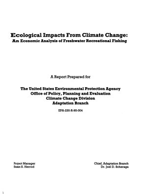 Ecological Impacts from Climate Change