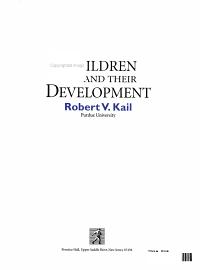 Children and Their Development Book