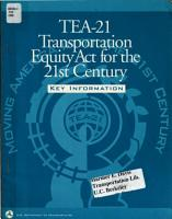 TEA 21  Transportation Equity Act for the 21st Century PDF