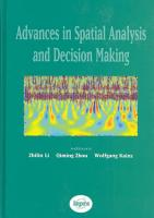Advances in Spatial Analysis and Decision Making PDF