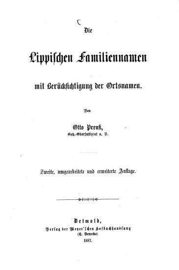 Die Lippischen Familiennamen PDF