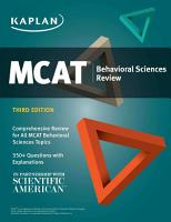 MCAT Behavioral Sciences Review PDF