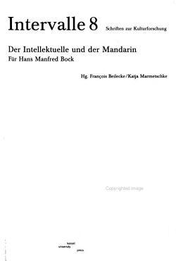 Der Intellektuelle und der Mandarin PDF