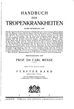 Handbuch der Tropenkrankheiten PDF