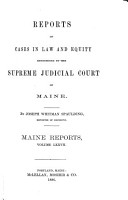 Reports of Cases in Law and Equity Determined by the Supreme Judicial Court of Maine PDF