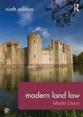 Modern Land Law: Edition 9