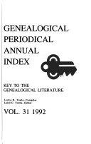Genealogical Periodical Annual Index PDF