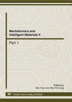 Mechatronics and Intelligent Materials II PDF
