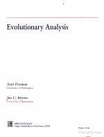 Evolutionary Analysis PDF