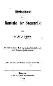 Beiträge zur Kenntniss der Sassaparille