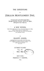 The Expeditions of Zebulon Montgomery Pike: Index. Maps