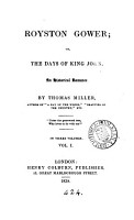 Royston Gower  Or  The Days of King John PDF