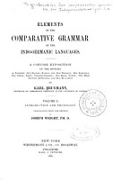 Elements of the Comparative Grammar of the Indo Germanic Languages PDF
