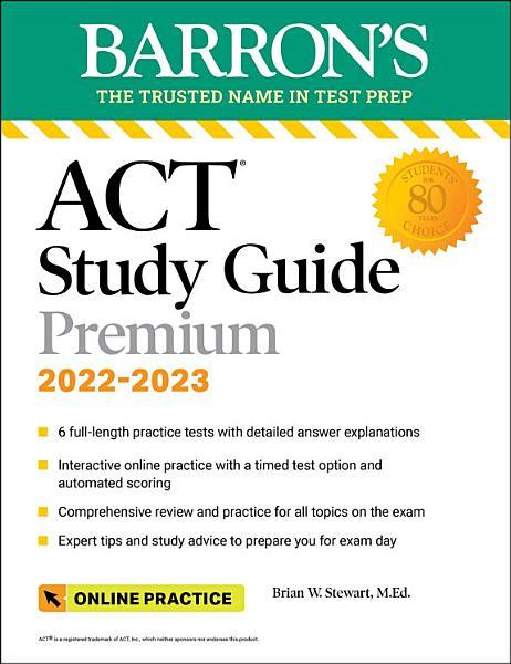 Download ACT Premium Study Guide Book