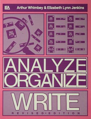 Analyze  Organize  Write