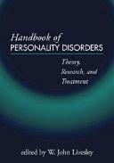 Handbook of Personality Disorders