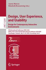 Design, User Experience, and Usability. Design for Contemporary Interactive Environments