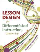 Lesson Design for Differentiated Instruction  Grades 4 9 PDF