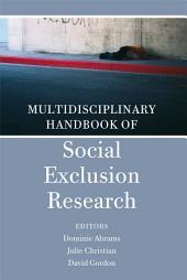 Multidisciplinary Handbook of Social Exclusion Research