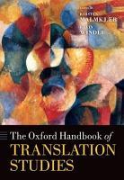The Oxford Handbook of Translation Studies PDF