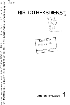 Bibliotheksdienst PDF