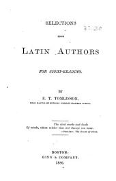 Selections from Latin authors for sight-reading