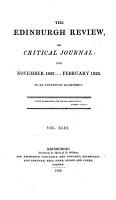 THE EDINBURGH REVIEW  OR CRITICAL JOURNAL  FOR NOVEMBER 1825     GEBRUARY 1826 PDF