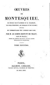 Oeuvres de Montesquieu: Volume7