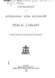 Catalogue of Stirling s and Glasgow Library PDF