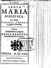 Santa Maria Egizziaca. [A play.]