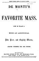 Favorite Mass (in B flat).