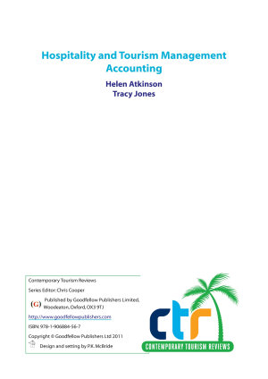 Hospitality and Tourism Management Accounting PDF