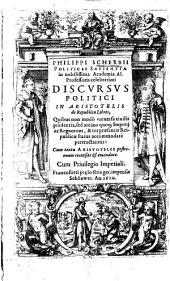 Phil. Scherbii Discursus politici in Aristotelis de Republica libros0