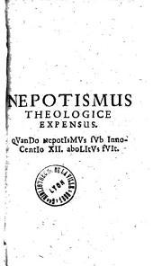 Nepotismus theologicè expensus
