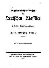 Halm. Stieglitz. Kühne: mit den Biographien der Verfasser