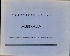 Australia  Official Standard Names Approved by the United States Board on Geographic Names
