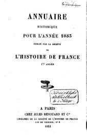 Annuaire historique pour l'année ....: Volume14