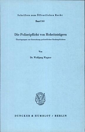 Die Polizeipflicht von Hoheitstr  gern PDF
