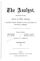 The Analyst: Volume 16