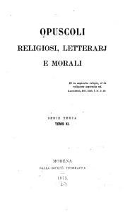 Opuscoli religiosi  letterarj e morali PDF