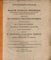 Disputationem publ. a J. G. Stickelio ... instituendam indicit Henr. Aug. Schott: disseritur de iis, quae maxime observanda sint in explicanda Pauli de Anti-Christo doctrina