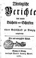 Theologische Berichte von neuen B  chern und Schriften PDF