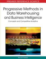 Progressive Methods in Data Warehousing and Business Intelligence  Concepts and Competitive Analytics PDF