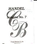 Sonata no  7  flute solo with piano accompaniment PDF