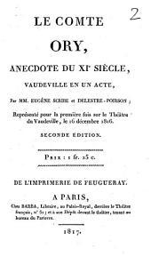 Le comte Ory: anecdote du XIe siècle, vaudeville en un acte